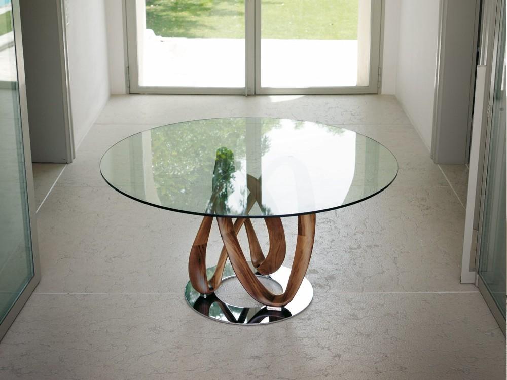 infinity glass dining table alveena casa. Black Bedroom Furniture Sets. Home Design Ideas